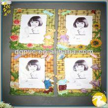 hand made photo frame ,embellished photo frame, magnets pvc frames