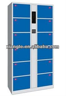 top quality supermarket metal storage locker/ twelve door steel electronic storage locker