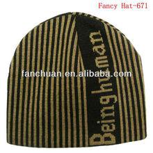 Promotional jacquard mens winter hat