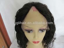 2013 best virgin Brazilian hair wig Long U-part wig Human Hair Weave Topper Wig