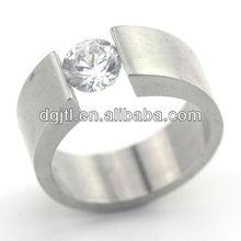 Various hot selling stainless steel latest design diamond ring