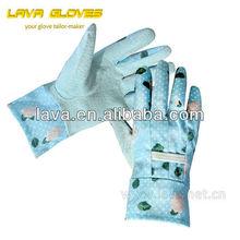 kids pig split leather gardening working gloves