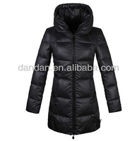 Ladies fashion long coat/winter jacket down with hoody