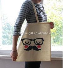 Plain Organic Cotton Fabric Shoulder Bags
