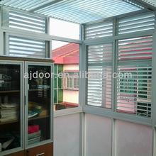 aluminum louver security window shutter sunshading blinds