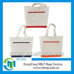 unique design women nylon shopping bag zipper tote bag cheap