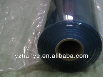 China flexible clear PVC roll plastic film