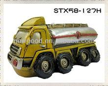 Fuel tank car --Old Car Figurine