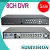 8 CH H.264Compression CCTV DVR