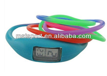 rainbow silicone led watch