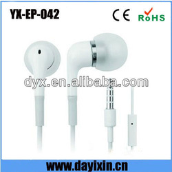 Best stylish white color oem for apple earphones with remote and mic
