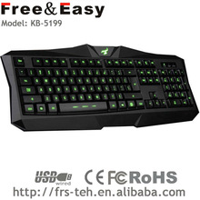 led light wired usb computer keyboard