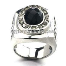Various hot selling stainless steel diamond rings for men