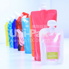 clear drink stand up spout pouch