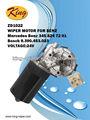 Zd1022 mercedes benz motor del limpiaparabrisas, 12v motor de corriente continua