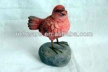 del pájaro del polyresin figura para la decoración del hogar