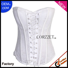 2013 new arrival white sexy waist training corsets for sale