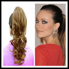Wholesale stock synthetic New fashion drawstring ponytail women hairpieces