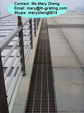 Q235 steel floor drain grate ,drainage, trench grating