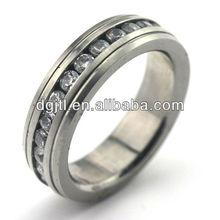 Various hot selling custom stainless steel diamond ring for men