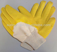 light duty latex dipped open back gloves