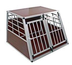 Big double door Alu dog cage for sale