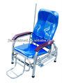 de acero inoxidable hospital ajustable silla de infusión