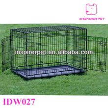 Wire Dog Cage Metal Pet Cage with Double Doors