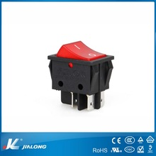 led 4pins on-off /DPDT/Double pole double throw silver contact light switch 16A 250V AC KCD4-201NC rocker switch