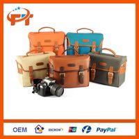 PU Leather Canvas Digital SLR Camera Bag For Nikon
