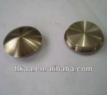 custom machining brass solid stainless steel end cap