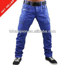 ( # Tg414p ) 2013 mais recente projeto real calças de borracha chinos fotos de calças para homens