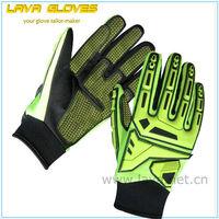 Hi-vis cut resistance heavy duty impact mechanic gloves