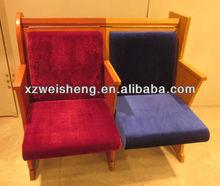 Wooden Fabric Church Bench ,Church Pew,Church Chair