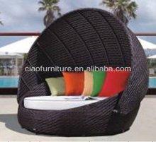 T-2013 pop rattan furniture outdoor sofa bed RB-016