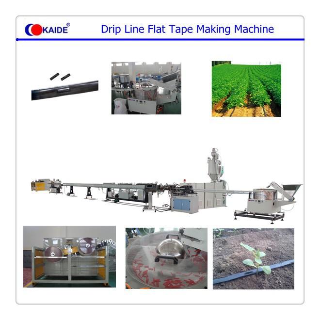 Flat Drip Irrigation Machine Machine Makes Drip Irrigation