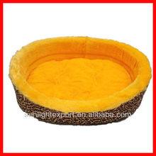 round orange foam pet product dog bed house