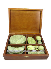 2013 new jade stone massage set with high quality can OEM