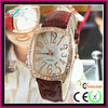 2013 new products japan movt 2013 trendy women watches with leather band and diamond face hot in USA Europe