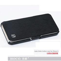 For iPhone 5 Original HOCO Duke Luxury Genuine Leather Flip Case