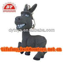 LED Donkey Keychain Light Sound ASS Noise Toy New Cut Gift Ring