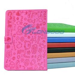 Book Style Flip Stand PU Leather Foilo Cartoon Case for iPad Mini