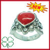 Ruby Gemstone Cocktail Ring Antique Silver Gemstone Ring
