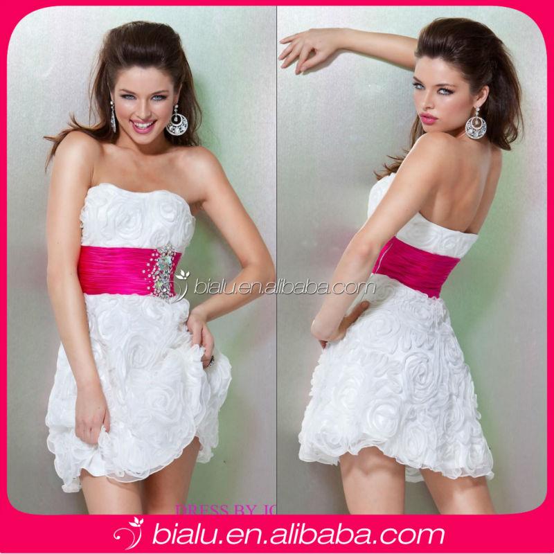 Fashion Hot Strapless Short Chiffon Cocktail Dress