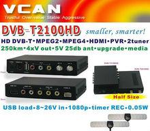 dvb-t twin tuner with pvr 2013 Vcan great brand 2100HD Car DVB-T portable hd car dvb-t tv receiver