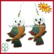 Cute Bird Pendant Earrings Gold Plating Multi Colors Bird Earrings