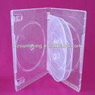 6 discs 22mm dvd case clear/multi disc dvd cases