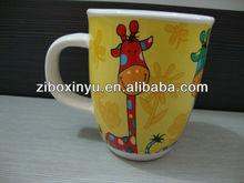 ZIBO XINYU XY0-676 High Quality Ceramic Coffee Mugs With Giraffe On It For Promotion