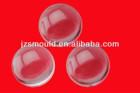 Injection mold manufacture custom made plastic hemisphere optical lens
