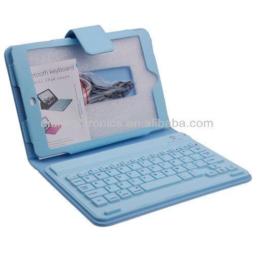 Chegada nova para o iPad mini leather Flip case capa com teclado